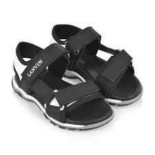 Boys Designer Sandals Lanvin Boys Black White Sandals Kids Designer Sandals