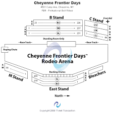 Frontier Park Seating Chart Cheyenne Frontier Days Seating Chart