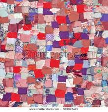Handmade Patchwork Quilt Background Abstract Colorful Stock Photo ... & Handmade Patchwork Quilt Background With Abstract Colorful Rustic Folk  Pattern. Vintage Scrappy Quilting Texture. Adamdwight.com