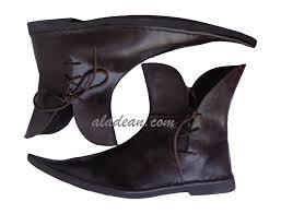 renaissance sca leather ankle shoes