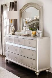 Mirrored Night Stands Bedroom Brooke Mirrored Nightstand Warm Usb And Mirrored Nightstand