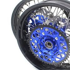 4 5 17 supermoto wheels rims set fit yamaha wr450f wr 250f disc