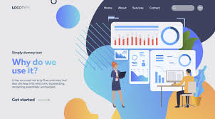 Woman And Man Analyzing Charts Vector Free Download