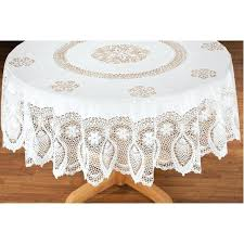 70 inch round vinyl tablecloth vinyl lace tablecloth view 2