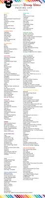 Free Disney World Packing List Everything You Need Lil
