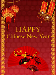 Chinese New Year Card Chinese New Year Fan Card Birthday Greeting Cards By Davia