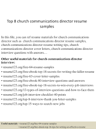 church resume search equations solver church resume builder sle customer service top8churchmunicationsdirectorresumesles 150514010828 lva1 6891 thumbnail 4 jpg cb 1431565756