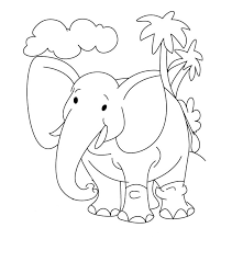 simple elephant coloring page 579 this simple elephant drawing is a very good piece of art to be hanged in your kid s room walls