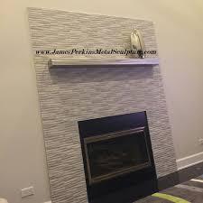 custom made modern stainless steel fireplace mantels