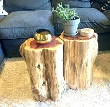 wood stump end table tree stump end table wood log co night stand glass with base wood stump end table