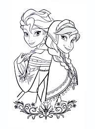 Coloriage De La Reine Des Neiges Elsa Et Annallll L