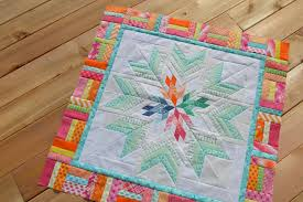 Aviatrix Medallion Quilt: the first border - Color Girl Quilts by ... & Aviatrix medallion quilt, modern patchwork star scrappy quilt Adamdwight.com