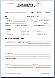 Incident Report Form Template Word Letter Of Intent Template