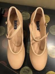 New Balera Black Character Ballroom Dance Shoes Size 3am