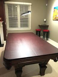 rug under pool table hard top cover ideas