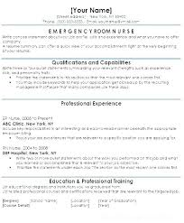Emergency Nurse Resume Cool Experienced Nurse Resume Experience Nurse Resume Skilled Nursing
