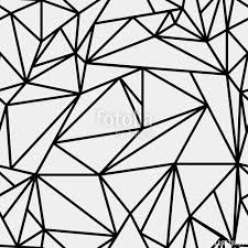 geometric simple black and white minimalistic pattern triangles or stained glass window can be used as wallpaper background or texture