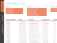 Employee Training Tracking Software Free Download Employee Training Tracker Spreadsheet Template