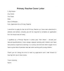 Cover Letter Sample Teacher