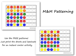 M&M Patterning Center Worksheets | Nuttin' But Preschool