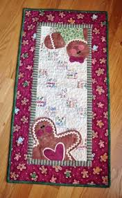 52 best Gingerbread quilts galore images on Pinterest | Table ... & Hugs & Holly Gingerbread Tablerunner Adamdwight.com