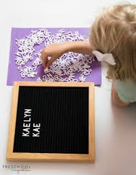 Letter Board Name Search Alphabet Activity For Preschool