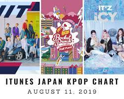 Itunes Japan Itunes Kpop Chart August 11th 2019 2019 08 11