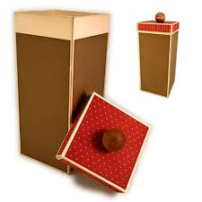 Decorative Gift Boxes With Lids Needles 'n' Knowledge Tall Box With Lid 29