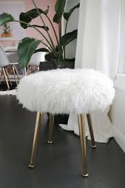 white and gold vanity stool. Furry Stool Beautiful Mess Decorated Most Rooms Of My House But The One That Neglected Is Bedroom Had Visions Laura To White And Gold Vanity