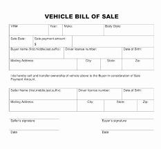 Sample Bill Of Sale For Car Pdf Bill Of Sale Template Pdf 34 Luxury Pics Printable Firearm Bill Sale