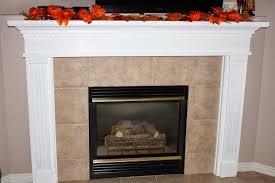 refinished fireplace mantel and fall card making class