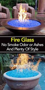 fire glass composed of small bits of basic tempered glass commonly used in fire pits