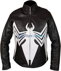 amazing spider man venom spiderman black leather jacket