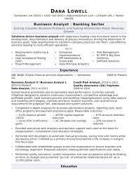 Business Analyst Resume Sample Monster Com Entry Level It
