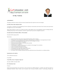 Resume For Office Manager Position Hotel Front Desk Resume Resume Work Template With Hotel Front Office