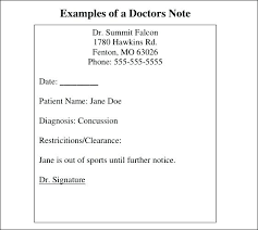 Best Fake Doctors Notes Es On A Doctor With Free Printable Note