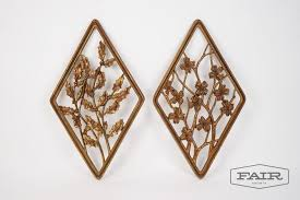 pair of syroco wood wall hangings from