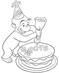 Curious George Decorating A Cake Connor Next Birthday Curious
