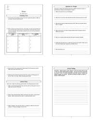 lesson eleven by sandra cisneros lesson plan worksheet key  eleven by sandra cisneros lesson plan worksheet w answer