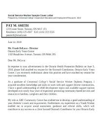 Sample Social Work Cover Letters Youth Worker Cover Letter Example