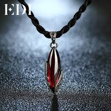 EDI Unique 925 <b>Sterling Silver</b> Garnet Pendants <b>Natural</b> ...