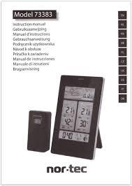 Handleiding Nor Tec Model 73383 Pagina 1 Van 9 Nederlands