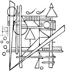 Paul Klee Coloring Pages Coloring Page Featuring Art By Paul Klee