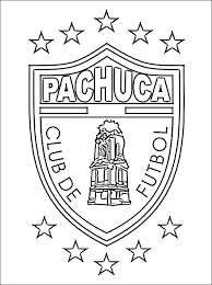 Small Picture Coloring page of CF Pachuca logo Coloring pages