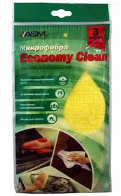"<b>Микрофибра</b> ""<b>Economy clean</b>"", <b>набор</b> салфеток 3шт., размер ..."