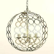 world market chandelier metal orb large grey