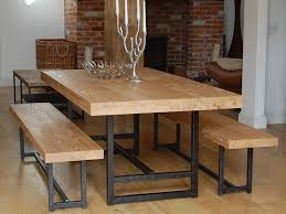 Great Wooden Outdoor Table With Bench Seats Outdoor Table Set Bench Seating For Dining Table
