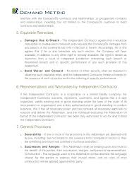 Sample Employee Non Compete Agreement No Contract Example Template ...