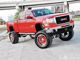lifted gmc truck wallpaper. Interesting Wallpaper Gmc Trucks Wallpaper Advanced 2014 Sierra Lifted Red Image 106  Intended Truck L