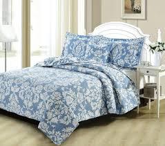 blue damask duvet cover quilt bedding enchanted breeze elegant light fl quilted coverlet bedspread set